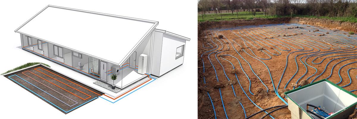 Système géothermique horizontal