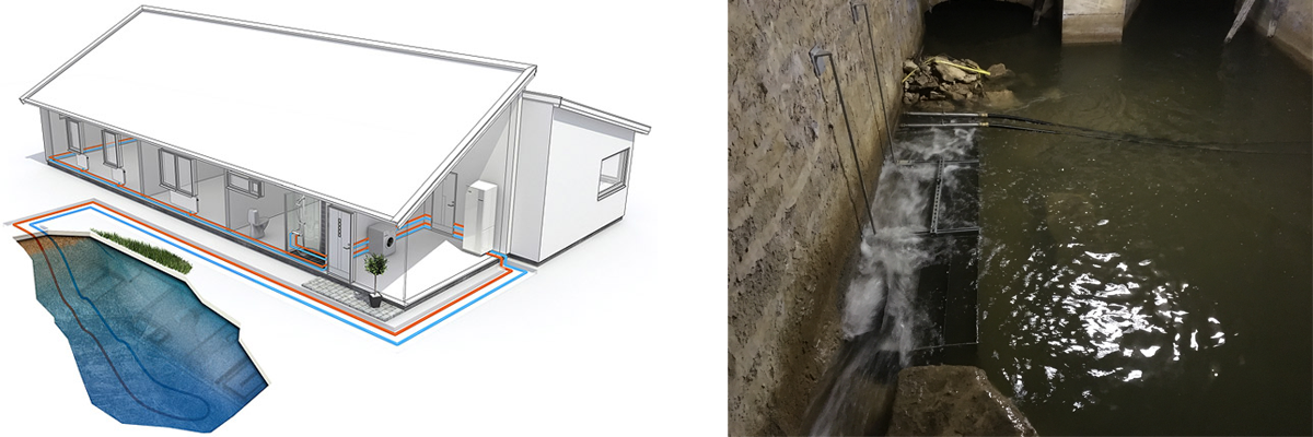 Système géothermique immergé